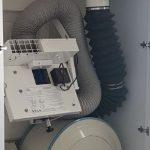 מערכת סינון אויר למרחב מוגן - מצב מקופל